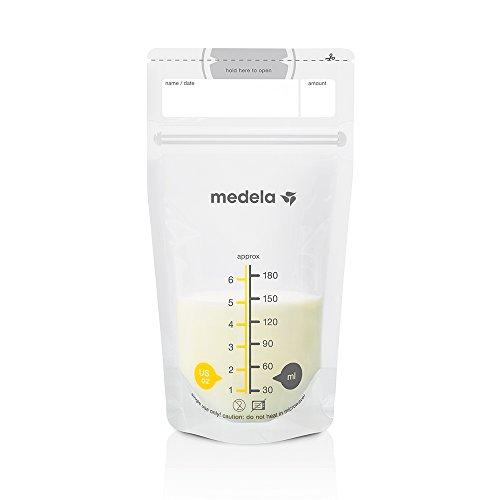 Medela - Sachet de conservation pour lait maternel - Résistant et Anti-fuites - Lot de 25 sachets de 180ml