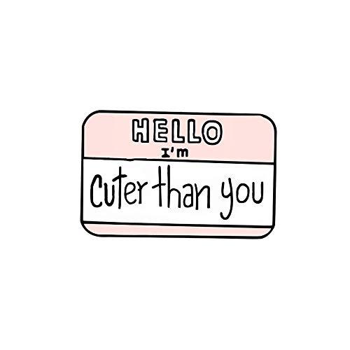 SFFSMD Netter Hinweis Broschen Tagesplan Save Paper Memo Message Icon-Revers-Emaille-Pin-lustige Cartoon-Stifte for Frauen-Mann-Hemd-Abzeichen Schmuck (Größe : Note 5)