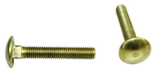 SN-TEC Massiv Messing Schlossschrauben/Flachrundkopfschrauben/Schloßschrauben M6 x 80mm ähnlich DIN603 (10 Stück)