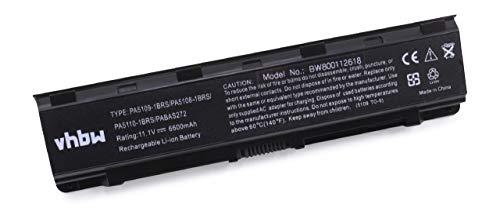 vhbw Li-Ion Akku 6600mAh (10.8V) für Notebook Laptop Toshiba Satellite Pro C70, C70-A wie PA5108, PA5109, PABAS271, u.a.