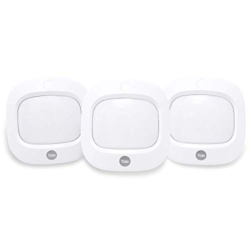 Yale AC-3PIR Sync Smart Home Alarm Accessory PIR Motion Detector, Pack of 3, White, Motion Detectors, DIY Friendly, App Control