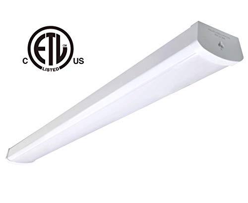 48W Linkable LED Wraparound Flushmount Light 4ft,led Shop Light,4000Lumens 5000K, ETL and Energy Star Certified,LED Wrap Light,LED Linear Indoor Lights,LED Puff Light,LED Ceiling Light,50K1pk