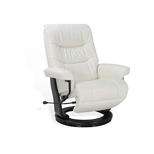 MND MY NEW DESIGN, sillón MAX Relax, diseño Ultra cómodo y práctico, fácil Cuidado (Blanco, Cuero)
