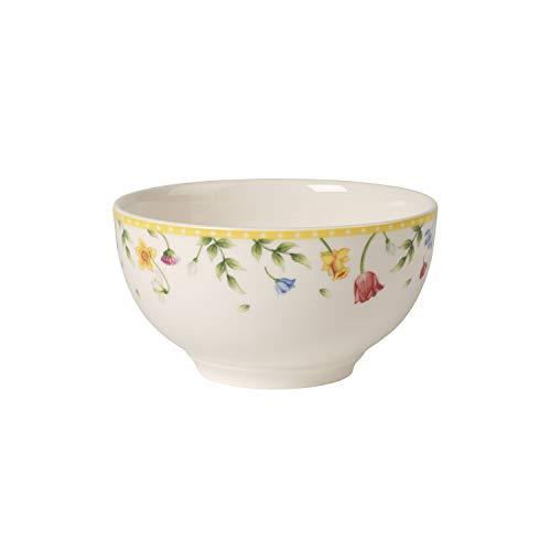 Villeroy & Boch Spring Awakening Coupelle Fleurs, Porcelaine Premium, Blanc/Multicolore