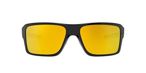 Oakley Double Edge Gafas de sol, Polished Black, 66 para Hombre