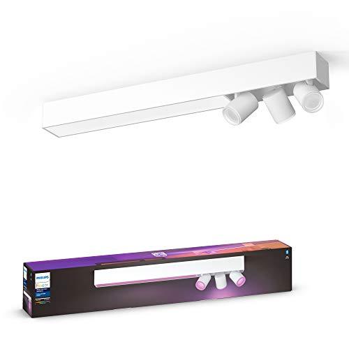 Philips Hue White & Col. Amb. LED 3-er Spotleuchte Centris, weiß, dimmbar, 16 Mio. Farben, steuerbar via App, kompatibel mit Amazon Alexa (Echo, Echo Dot)