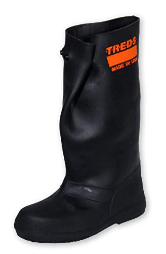 TREDS Super Tough 17' Pull-On Stretch Rubber Overboots for Rain, Slush, Snow and Construction, Size XX-Large
