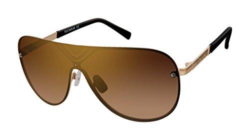 Rocawear Herren R1484 Gldbk Sonnenbrille, Goldfarben/Schwarz
