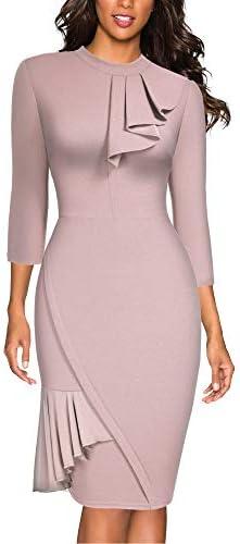 Miusol Women s Vintage Half Collar Slim Style Party Pencil Dress Pink product image