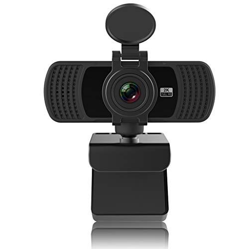 WDFVGEE 1440P Webkamera mit Mikrofon drehbar 2K Autofokus Computer PC Desktop Mini Webcam für Computer Handy Zubehör