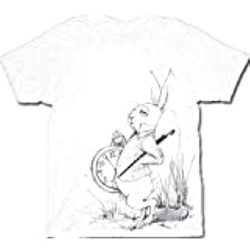 Alice au pays des merveilles Lapin Blanc Sketch pour homme T-shirt Blanc Tee - Blanc - Medium