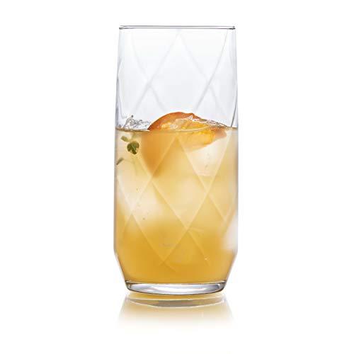 Libbey Diamond Swirl Tumbler Glasses, Set of 12