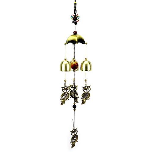 YoungerY Wind Glockenspiel Vintage Eule Glocken Windspiel Glieder hängen Dekoration Home Outdoor Yard Garten Wand Ornament Fenster