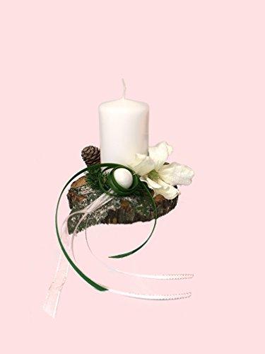 Adventsgesteck Nr.24 mit weißer Kerze, Weihnachtsgesteck, Wintergesteck, Advent Adventskranz