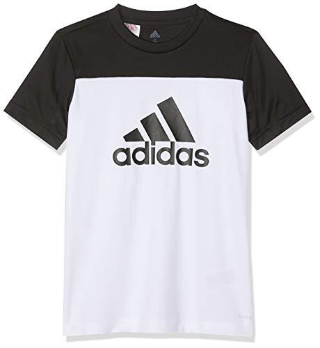 adidas Jungen Equipment T-Shirt, White/Black, 176