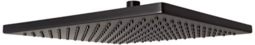 DELTA 52159-BL25 Single-Setting Metal Raincan Shower Head, 2.5 GPM Water Flow, Matte Black