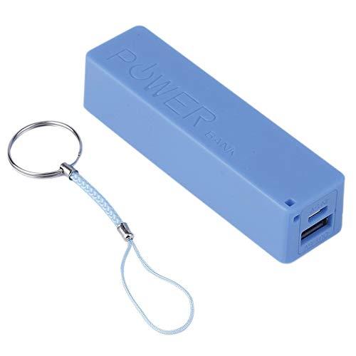 Triamisu Power Bank Case - 2600MAH Tamaño portátil 1x18650 Batería Power Bank Externo Cargador de batería de Respaldo Power Bank Case para teléfonos Inteligentes - Azul