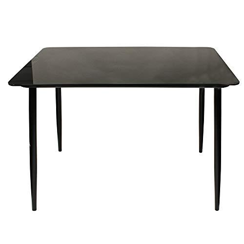 The Home Deco Factory HD6443 eettafel van glas, zwart, 115 x 70 x 75 cm