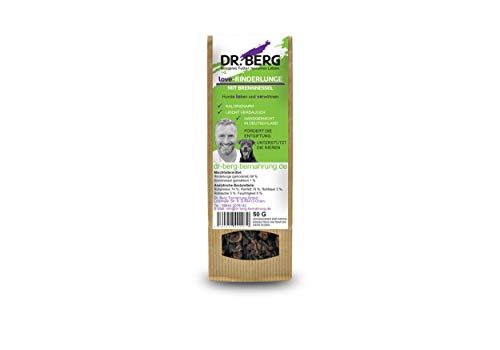Dr. Berg Love-RINDERLUNGE mit Brennnessel: getreidefreies & gesundes Leckerli für Hunde - extra verträglich und lecker durch natürliche & hochwertige Zutaten (1 x 50 g)
