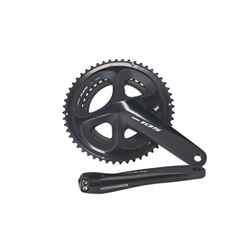 SHIMANO BIELAS 105 R7000 11V Ciclismo, Adultos Unisex, Negro(Negro), 175mm 50/34