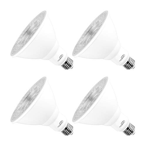 Par38 Bright Led Light Bulbs 5000k Natural Daylight Dimmable, E26 Led Bulb 18w(180watt Equivalent) Recessed Lighting, Outdoor Led Flood Light Bulbs Indoor, Energy Saving Light Bulbs Efficient(4 Pack)