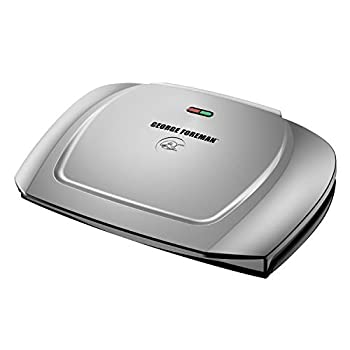 George Foreman 9-Serving Basic Plate Electric Grill and Panini Press 144-Square-Inch Platinum GR2144P