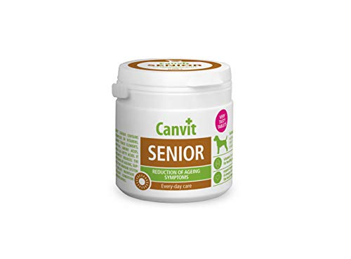 Canvit Senior Dog Multivitamins And Minerals Every Day Care Supplements To Aid Reduction Of Ageing Symptoms And Support Old Dogs Immune System (Senior, 100 Tablets)