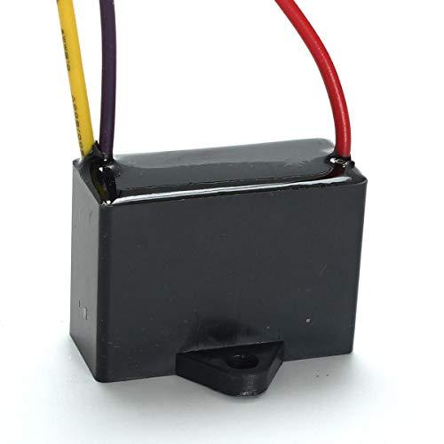 SHANG-JUN Fácil de Montar 1.5UF + 2.5UF 3 Cable 250VAC Ventilador de Techo Capacitor 3 Cables CBB61 Conveniente