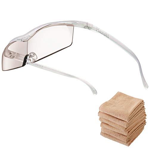 Hazuki ハズキルーペ コンパクト 1.6倍 ブルーライト対応 クリアレンズ パール (全9色) 【正規代理店品・メーカー保証付】 セブンエステ製フェイスタオル付 [ ハズキ 拡大眼鏡 拡大鏡 拡大レンズ 拡大メガネ 眼鏡型 めがね型 メガネタイプ 眼