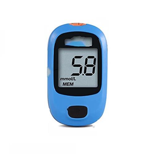 XILALA Fácil de Manejar, Kit De Medidor Médico De Glucosa En Sangre Monitor De Glucosa En La Diabetes con Tiras De Prueba 25/50/100 Y Lanceta Regalos para la Familia (Color : 1HOST+50BG)