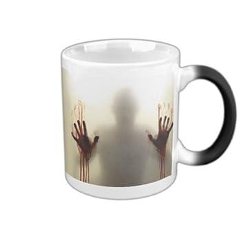 Funny Coffee Mug,SINLOOG The Walking Dead Color Changing Mug,Sensitive Heat Changing Mug Zombie Ceramic Mug for Birthday Gifts