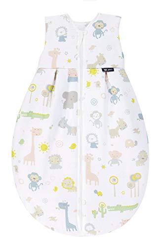 Alvi Kugelschlafsack Thermo | Baby-Schlafsack ärmellos | Winterschlafsack wattiert | Alvi Außensack 2,5 TOG | Schlafsack