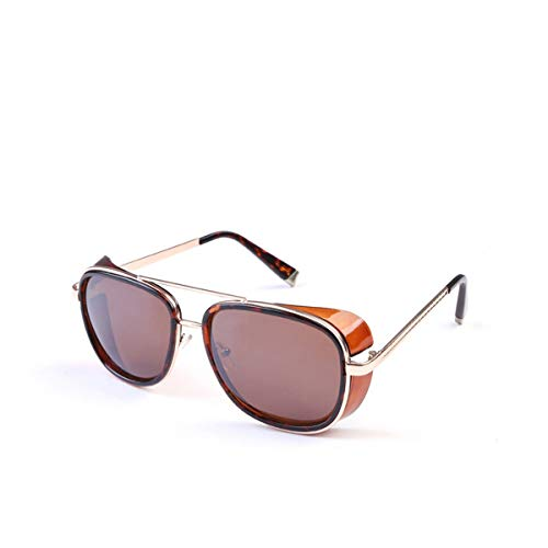 FGRYGF-eyewear Gafas de sol deportivas, gafas de sol vintage, Sun Glasses Iron Man 3 Actor Wind Sunglasses For Men Women Lunette De Soleil Feminino Gothic Steampunk SI21 1