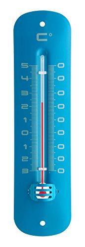 TFA 12.2051.06 - Termómetro de Interior y Exterior, metálico, Color Azul