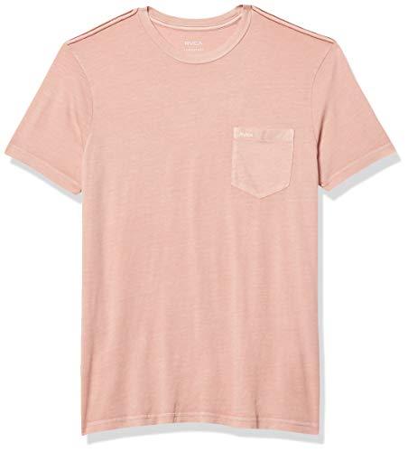 RVCA mens Ptc 2 Pigment Short Sleeve Crew Neck T-shirt T Shirt, Pale Mauve, X-Large US