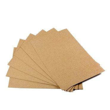 Papel de estraza, 50hojas, DIN A4, cartón natural, alta calidad, marrón natural, cartón kraft de 260 g; calidad