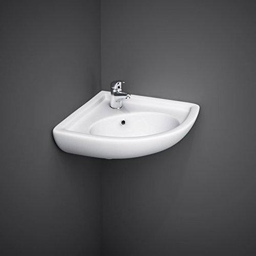 Bagno Italia Lavabo sospeso ad angolo 44x36x19,5 lavandino per bagno salvaspazio I
