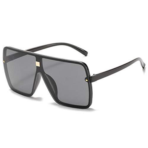 ZZOW Gafas De Sol Cuadradas De Gran Tamaño A La Moda para Mujer Ins Populares Vintage para Hombre, Gafas De Sol para Mujer, Gafas De Una Pieza, Gafas Uv400