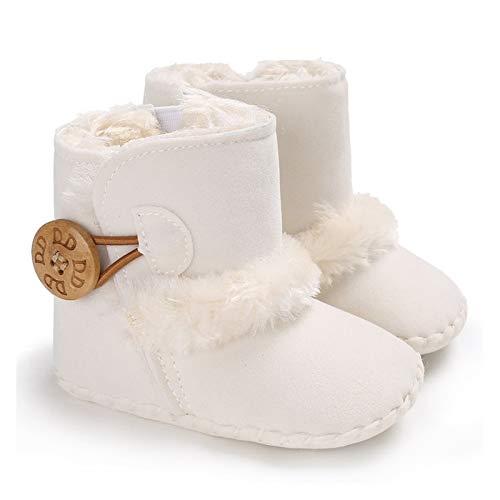 Youpin Baby First Walkers - Botines unisex de forro polar sintético para recién nacido, cálidos, para invierno, para cuna, zapatos clásicos (edad del bebé: 13 años 18 meses, color: G1 0.096)