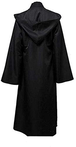 Generico Capa con capucha Cosplay Disfraz Túnica Negro L (173/177 cm altura)