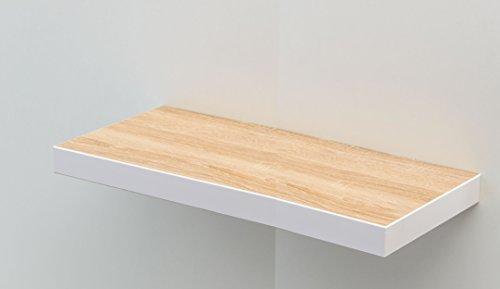deine-tante-emma Steckboard Wandboard Hängeregal Wandregal Eiche Sägerau Dekor/Weiss 80 cm