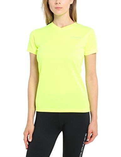 Ultrasport Endurance Vista Performance T-shirt Femme, Jaune, 42