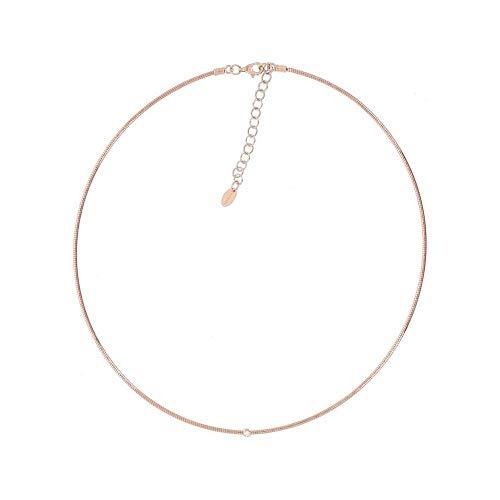 Pesavento - Cadena de plata 925 para mujer, oro rosa 750, diamante de talla única, rosa