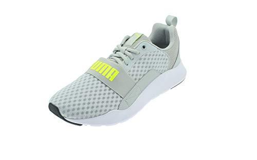 PUMA - Zapatillas deportivas para hombre de malla trenzada, color gris