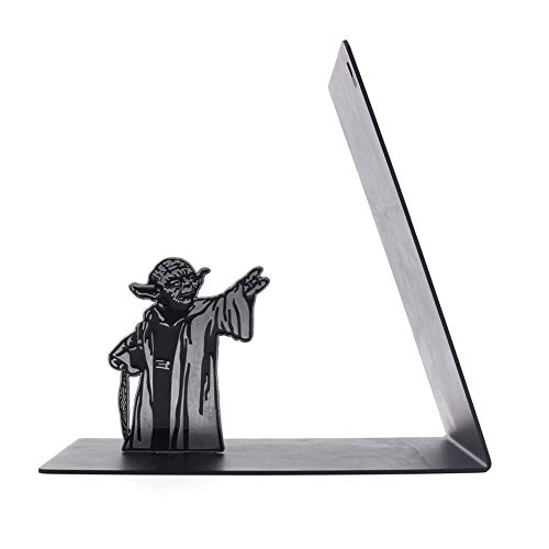 Puzzle Star Wars Master Yoda Metall Buchstütze, Buchstützen Unterstützung Für Büro Und Zuhause, Yoda Force Bücherregal(Color:Meister Yoda)