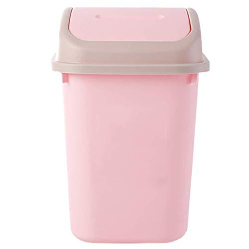 SXXYTCWL Bote de Basura de Basura de plástico, Interruptor de Tapa Simple y diseño Cuadrado, Cocina de Cocina de Cocina (Color: Rosa) jianyou (Color : Pink)