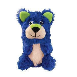 KONG – Huggz Fox – Interaktives Plüschtier mit Quietscher für Zusätzlichen Spaß – Für Große Hunde