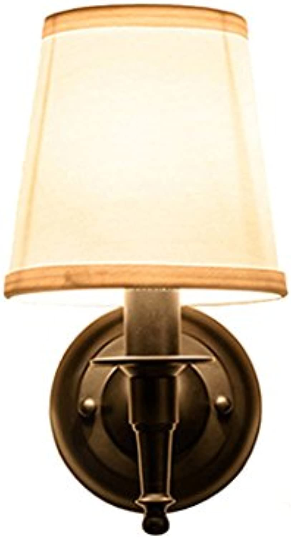 rotstone lighting American Style Schmiedeeisen Nachttischlampe einfache Schlafzimmer Wandleuchte Wohnzimmer Wandleuchten (Farbe   SCHWARZ)