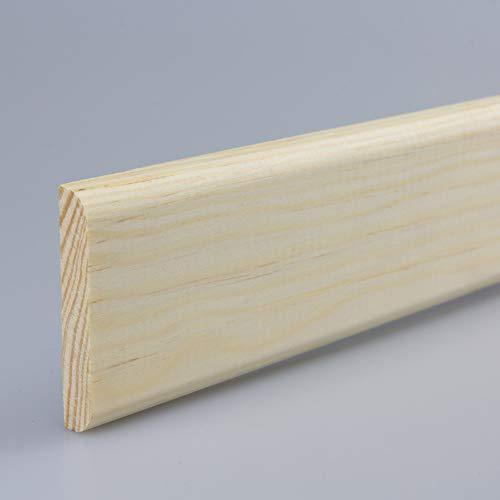 Tapetenleiste Abdeckleiste Wandschutzleiste Holz-Bordüre Bastelleiste Flachprofil aus Kiefer-Massivholz 900 x 9 x 48 mm