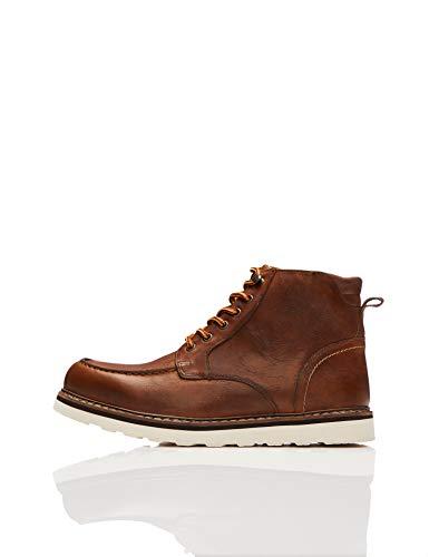 find. Dax Leather Apron Chukka Boots, Braun (Grained Tan), 42 EU